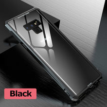Load image into Gallery viewer, Aluminum Metal Bumper Glass Case For Samsung S9/S8 Plus/S7/Note 9 (BUY 2PCS TO GET 10% OFF)