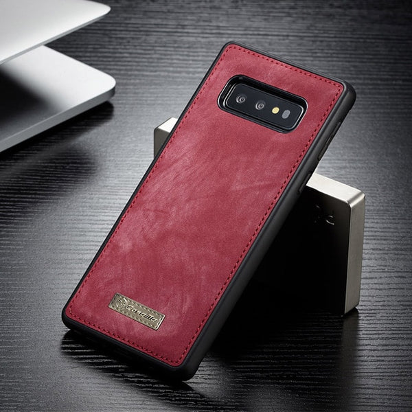 Magnetic Vintage Leather Silicone Case For Samsung S10/ Plus/ S10e(BUY 2PCS TO GET 10% OFF)