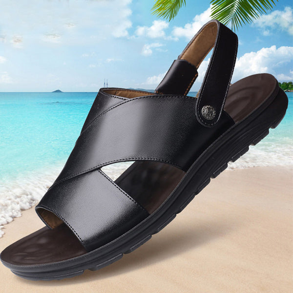 Summer Men Flat Cow Leather Sandals(BUY 2 TO GET 10% OFF)