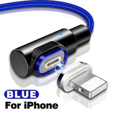 Load image into Gallery viewer, 90 Degree Lightning Magnetic Cable For iPhone/Micro/Type-C(BUY 2 TO GET 10% OFF)