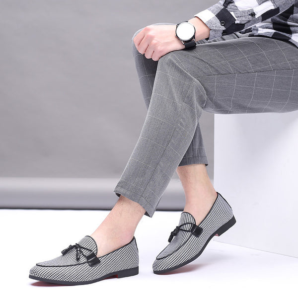 Classic Leather Pointed Toe Men Wedding Slip-On Penny Shoes(BUY 2PCS TO GET 10% OFF)
