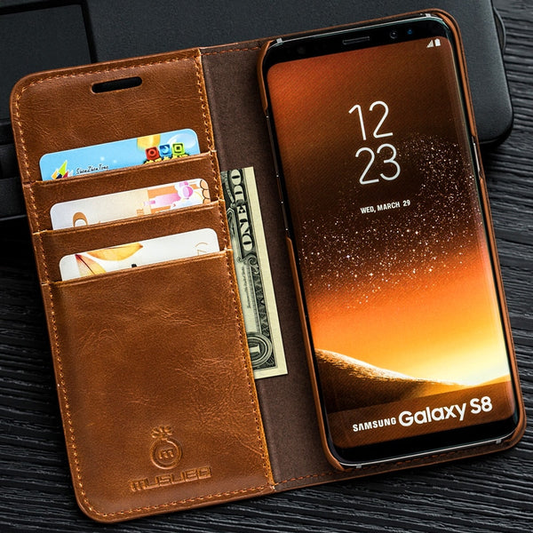 Luxury Stand Leather Case For Samsung S9 Plus/S8/Note 9/8(BUY 2 TO GET 10% OFF)