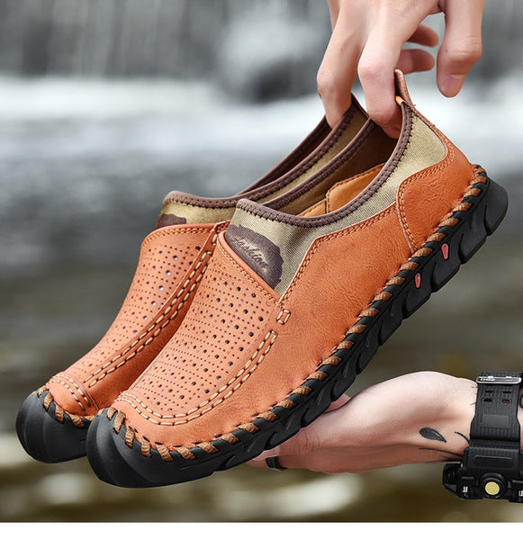 Summer Handmade Genuine Leather Soft Men Shoes(BUY 2PCS TO GET 10% OFF)