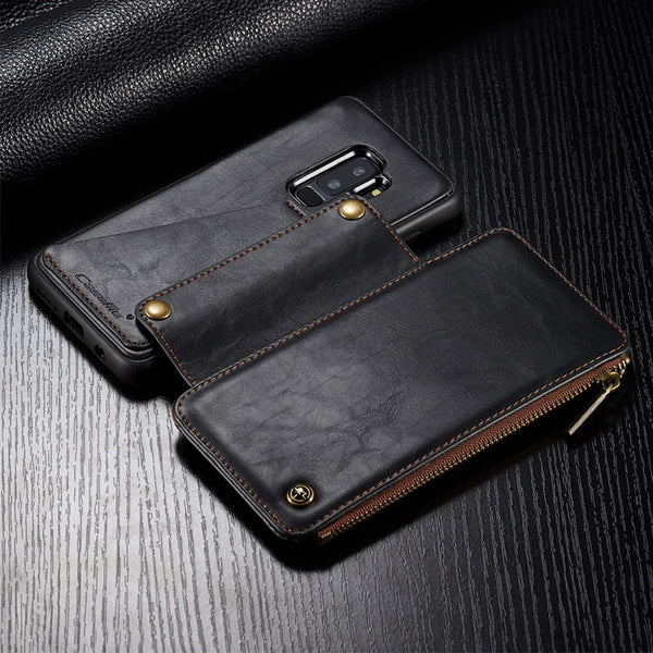 2 in 1 Leather Wallet Zipper Case For Samsung S9/S9 Plus(BUY 2PCS TO GET 10% OFF)