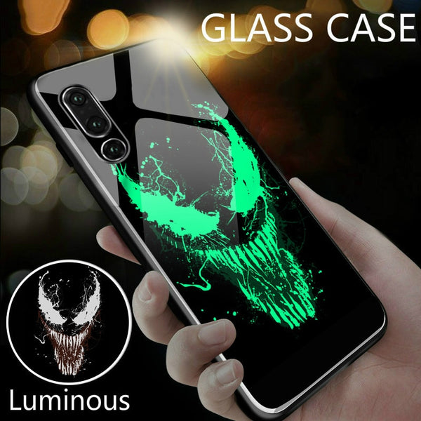 Marvel Venom Luminous Glass Case For Huawei P30 P20 P10(BUY 2 TO GET 10% OFF)