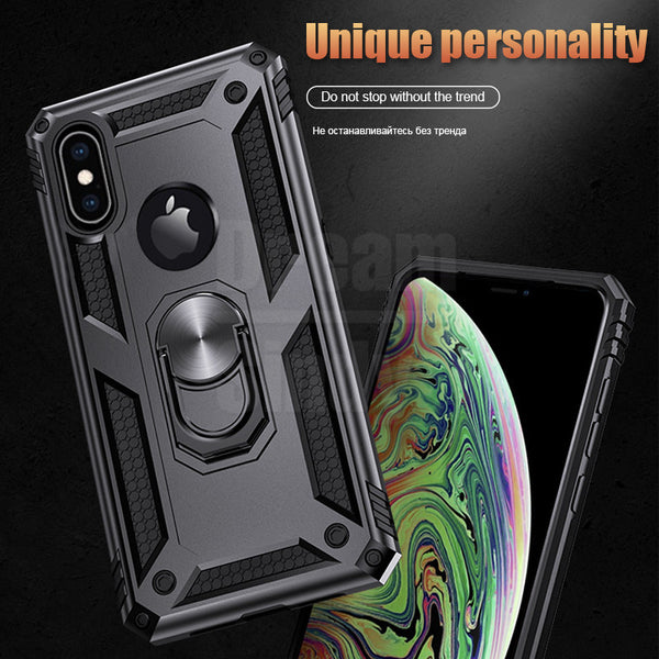 Luxury Armor Silicone Bumper Ring Case For IPhone XR/XS Max/X(BUY 2 TO GET 10% OFF)