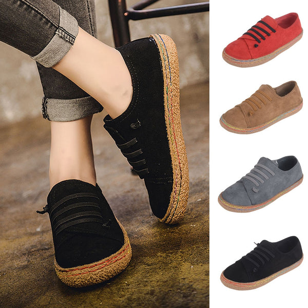 Women's Flat Suede Leather Lace-Up Shoes(BUY 2PCS TO GET 10% OFF)