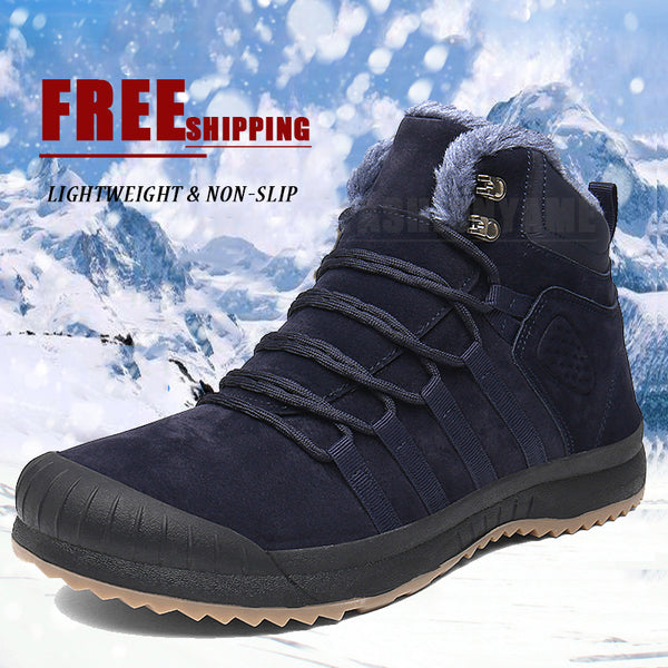 Outdoor Lightweight Non-slip Men Suede Snow Boots