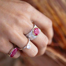 Faceted Ruby Ring Byron Bay