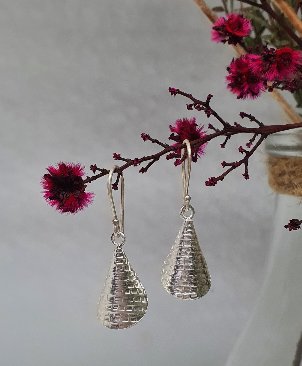 Patterned Cone Earrings