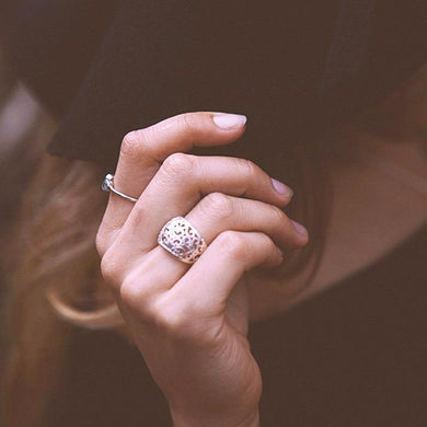 Intricate spirals ring