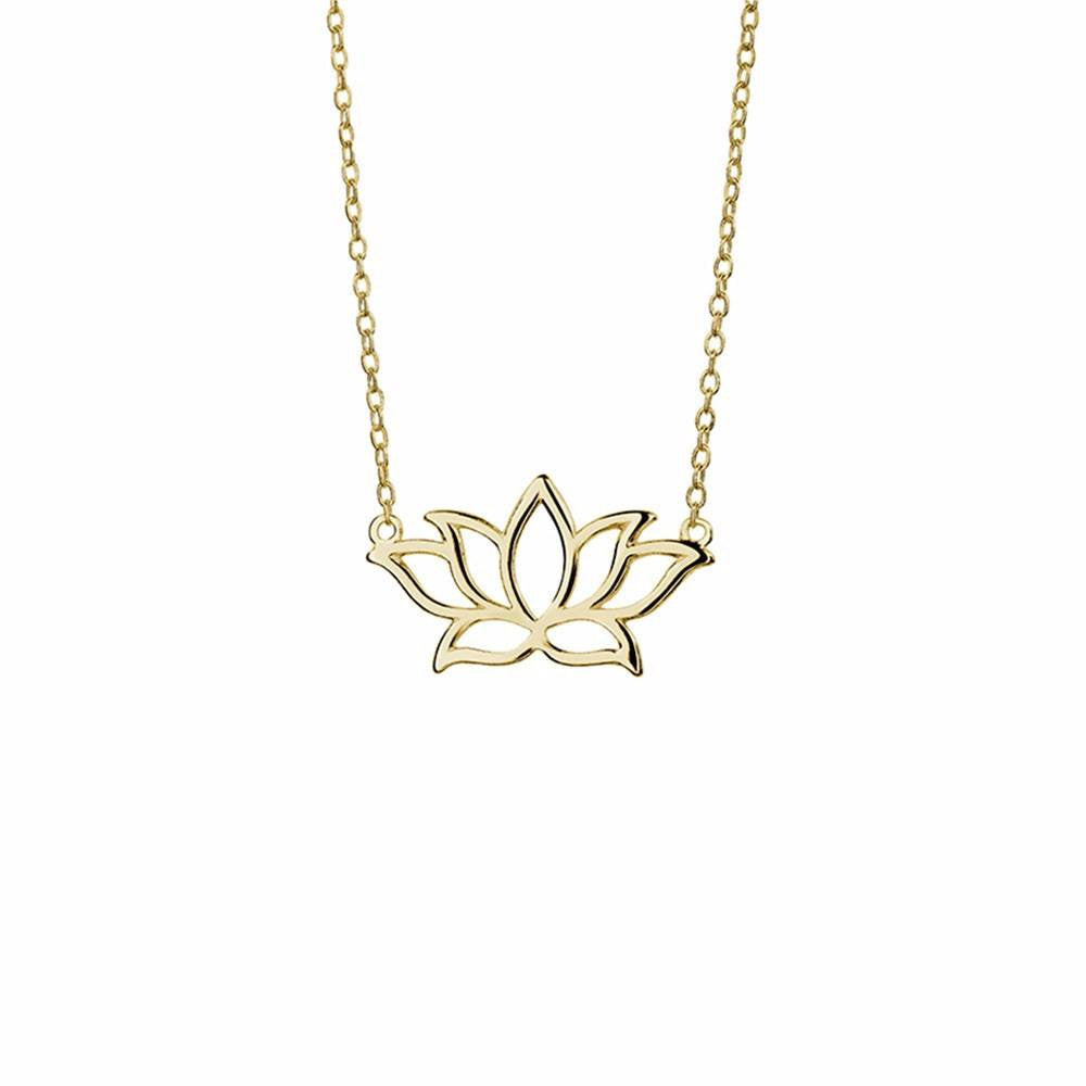 Floating Lotus necklace gold
