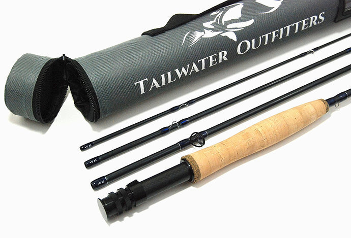 Toccoa Fly Rod: High Performance 4 piece, Fast Action IM8 Graphite With Rod Tube