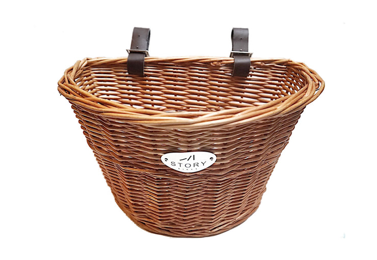 Hand Woven Wicker Basket for Commuter and Step Through