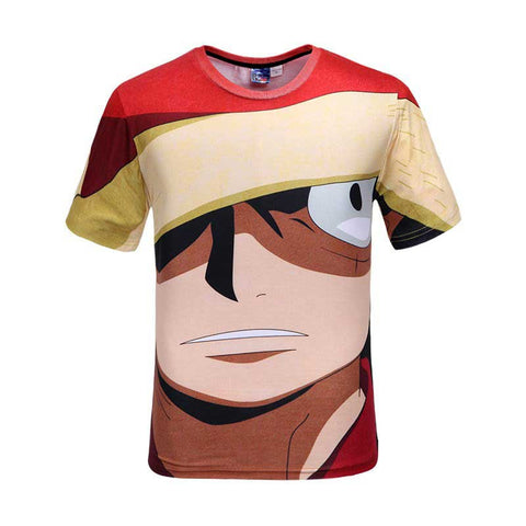 T-shirt Luffy 3D printed short sleeves