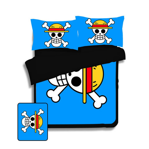 Bed set One Piece Mugiwara Logo
