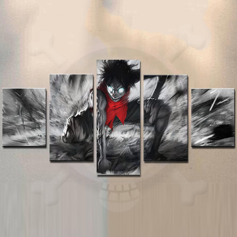Canvas 5 pieces Luffy angry