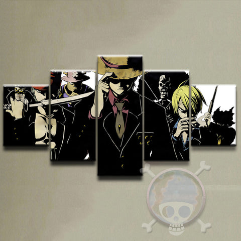 Canvas 5 pieces One Piece The Mafia mugiwara crew
