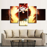 Canvas 5 pieces Dragon Ball San Goku Super Saiyan 4