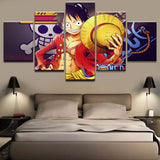 Canvas 5 pieces One Piece Captain Luffy