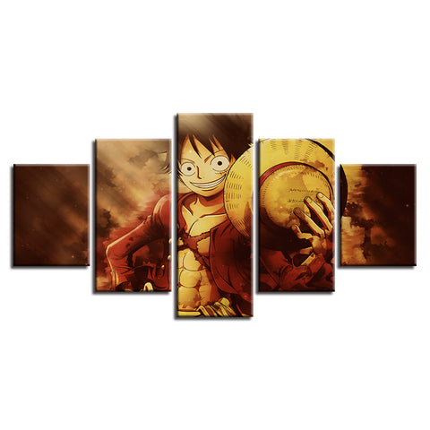 Canvas 5 pieces One Piece Mugiwara no Luffy
