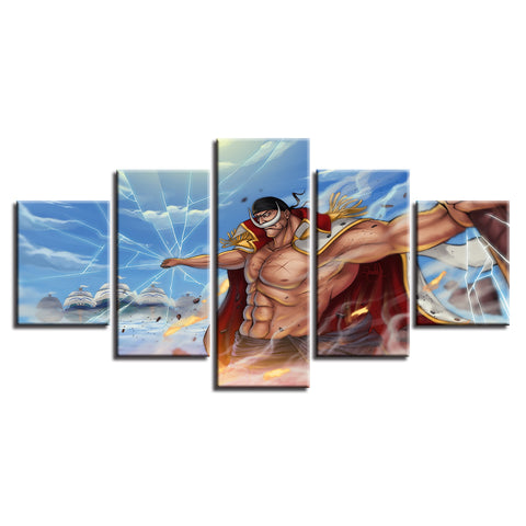 Canvas 5 pieces One Piece White Beard Earthquake