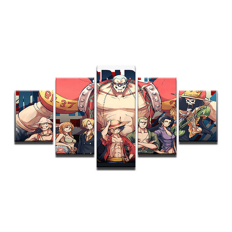 Canvas 5 pieces One Piece Mugiwara Crew