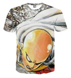 T-shirt One Punch Man Saitama on the rock