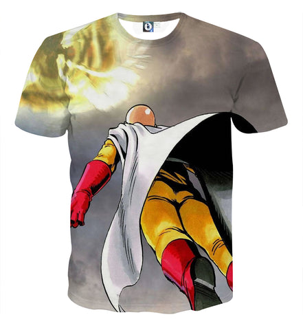 T-shirt One Punch Man Saitama Flight
