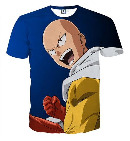 T-shirt One Punch Man Saitama Yatta