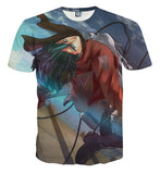 T-shirt Attack on titan Lightness