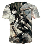 T-shirt Attack on titan captain Levy