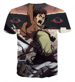 T-shirt Attack on titan Eren assault
