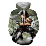 Hoodie Attack on Titan Eren attack