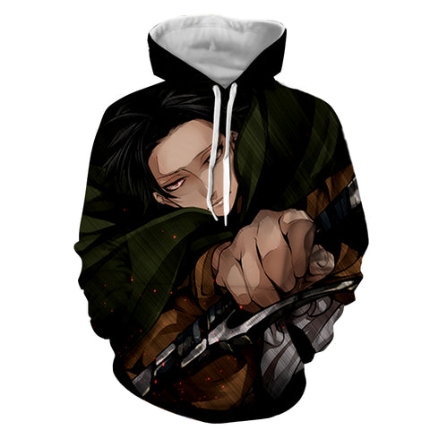 Hoodie Attack on Titan Levy attack