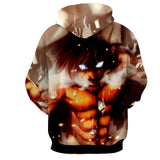 Hoodie Attack on Titan Eren Fury