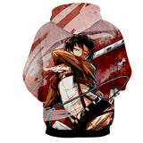 Hoodie Attack on Titan Dance in red