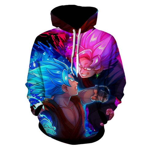 Hoodie Dragon Ball Son Goku God versus Son Goku Black Rose