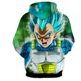 Hoodie Dragon Ball Vegeta God