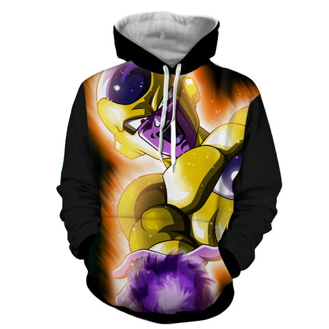 Hoodie Dragon Ball Dark Golden Freeza domination