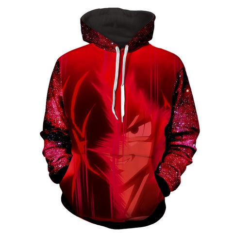Hoodie Dragon Ball Cosmos San Goku Red Aura