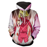 Hoodie Dragon Ball Cosmos C18 posture