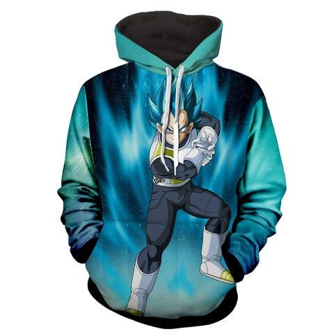 Hoodie Dragon Ball Cosmos Vegeta final flash ready