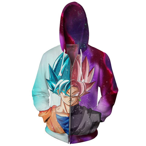 Jacket Dragon Ball Goku Black and God.