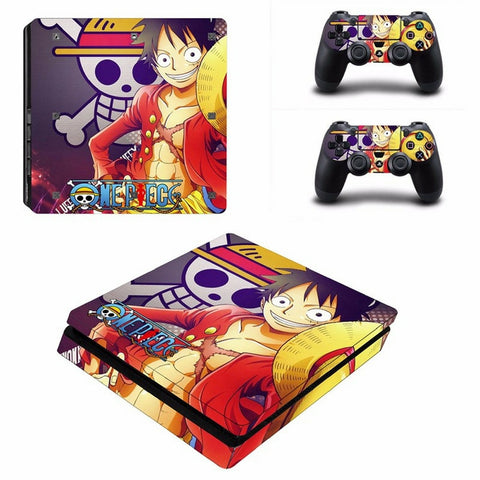 Luffy and his Jolly Roger decal skin PS4 slim