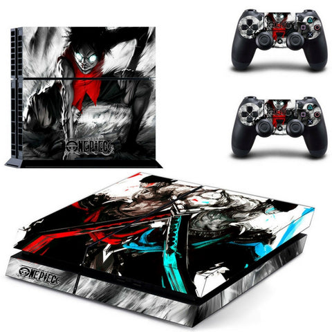 Mirror Zoro and Luffy decal skin PS4
