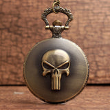 Pocket watch Brook skull bronze vintage design