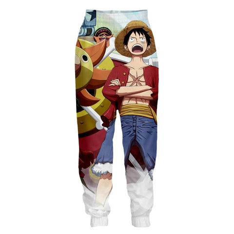 Streetwear Pants One Piece Luffy X Thousand sunny