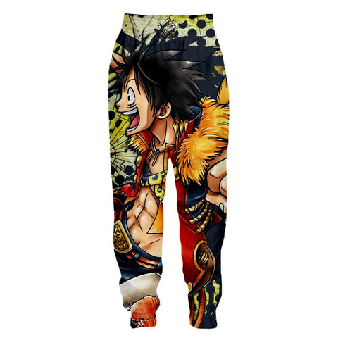 Streetwear Pants One Piece Luffy the future king