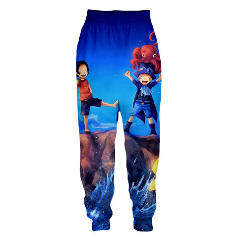 Streetwear Pants One Piece Childhood brothers